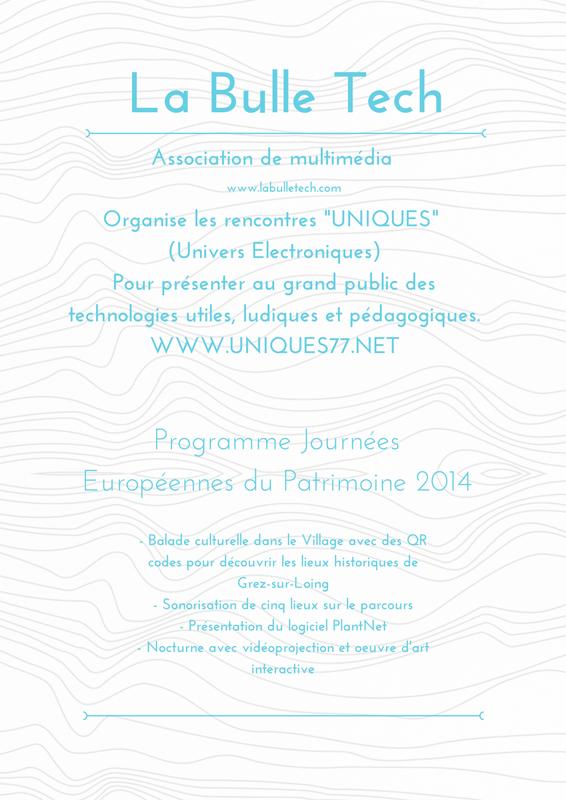 Journees du Patrimoine UNIQUES 2014